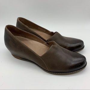 DANSKO gray brown wedge flats heels, 42.